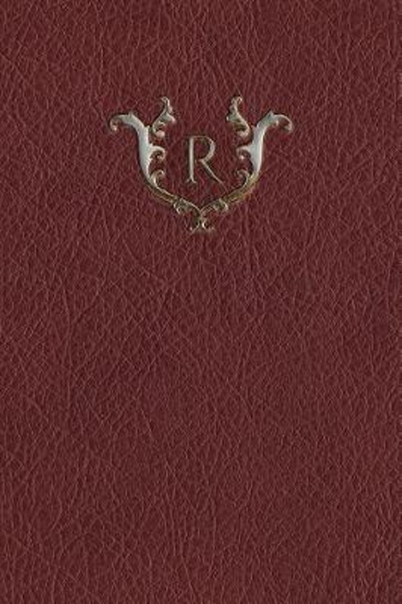 Monogram R Any Day Planner Notebook