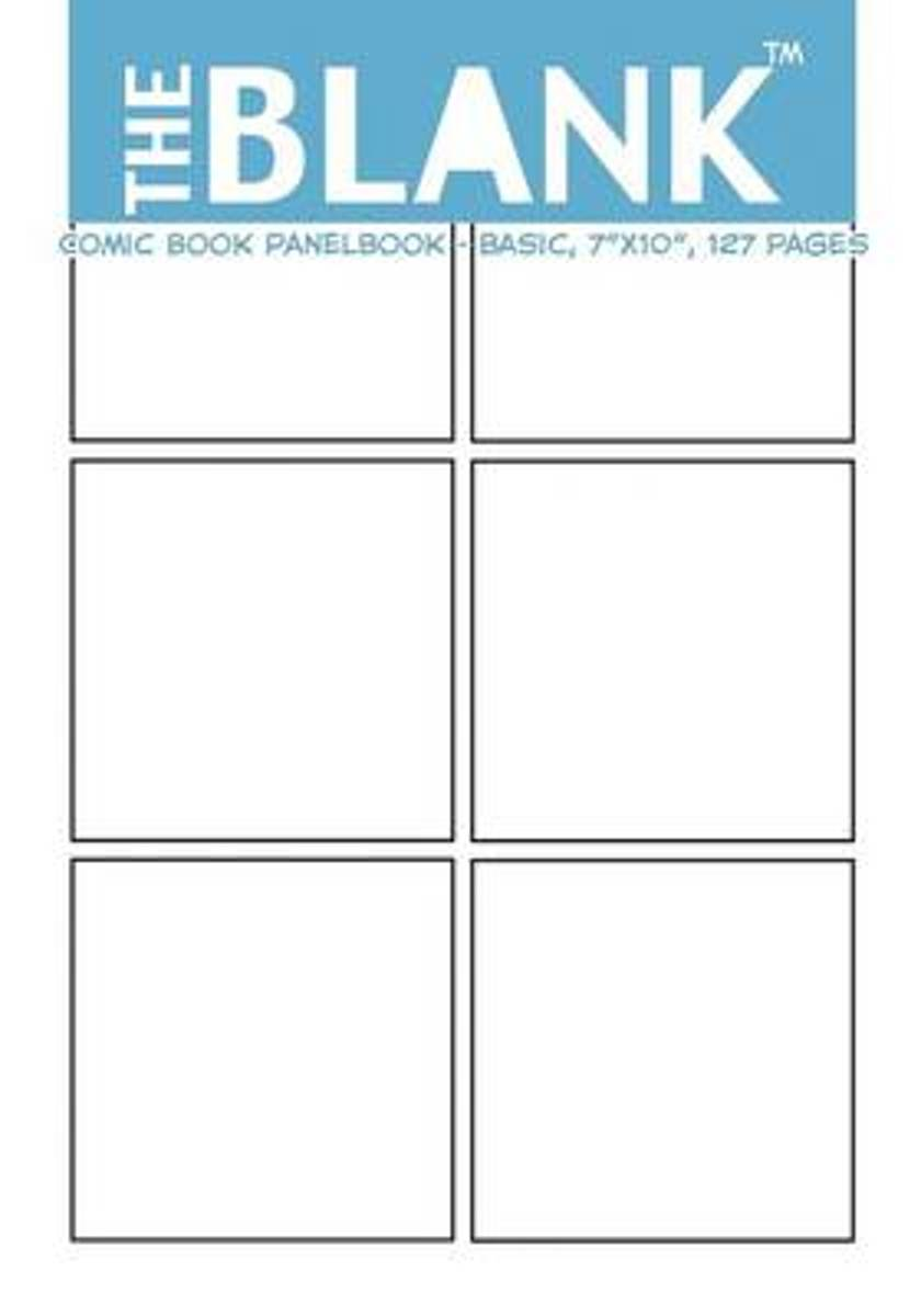 The Blank Comic Book Panelbook - Basic, 7 x10, 127 Pages