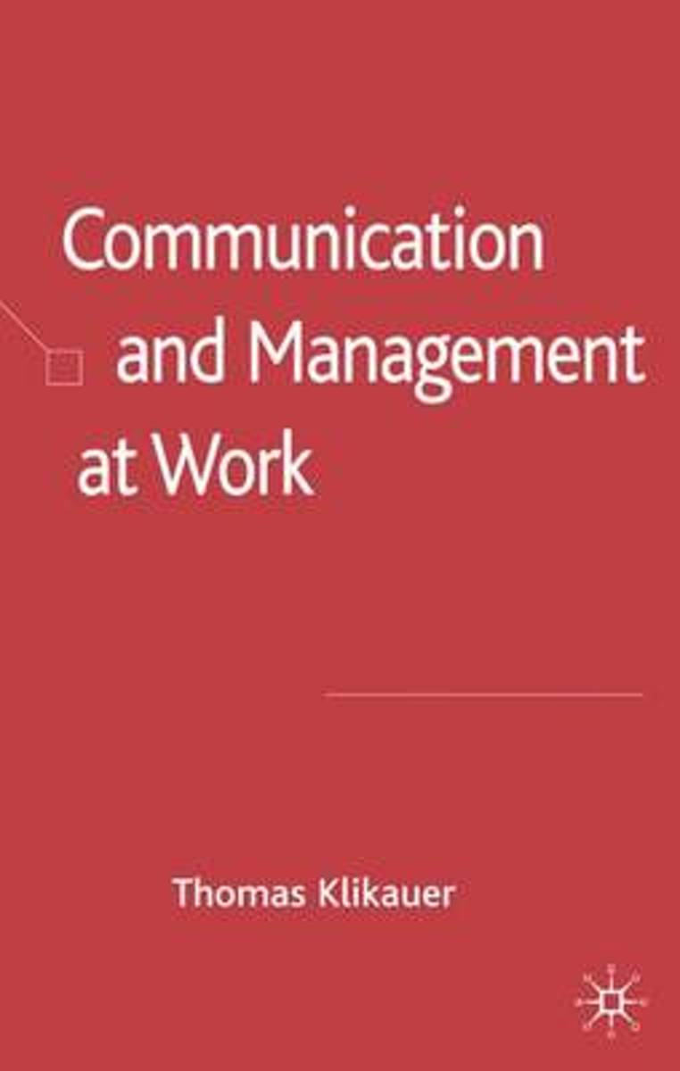 Communication and Management at Work