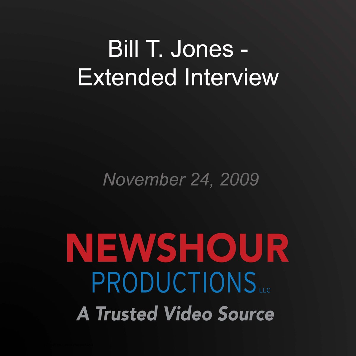 Bill T. Jones - Extended Interview