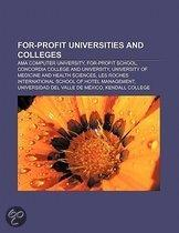 For-profit universities and colleges