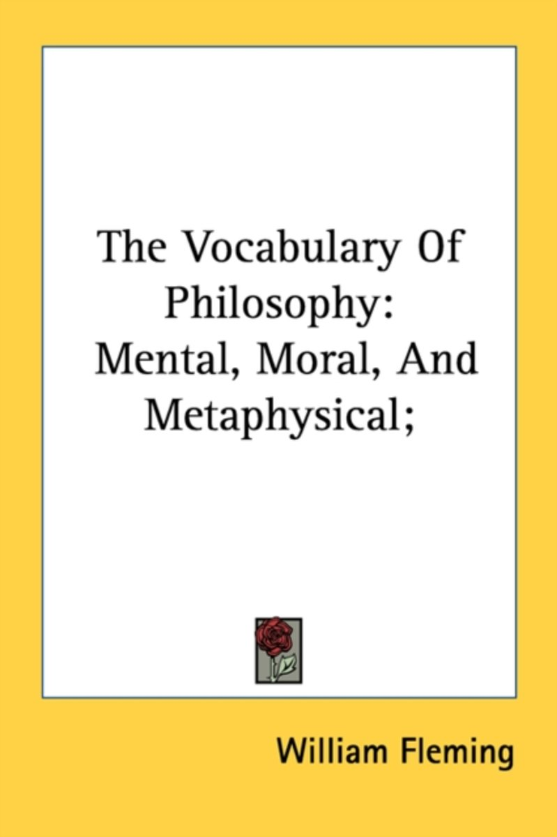 The Vocabulary of Philosophy