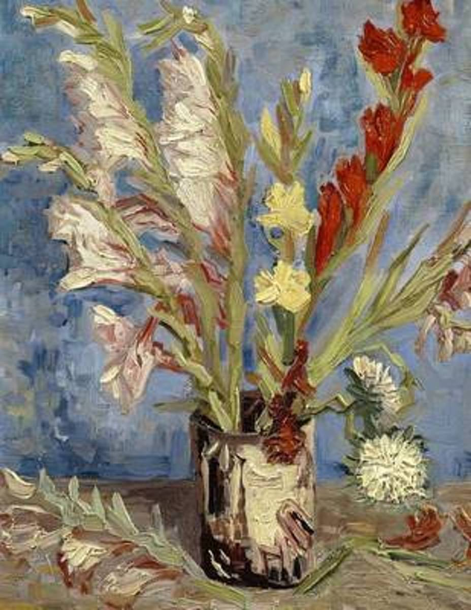 Vase with Chinese Asters and Gladioli, Vincent Van Gogh. Ruled Journal