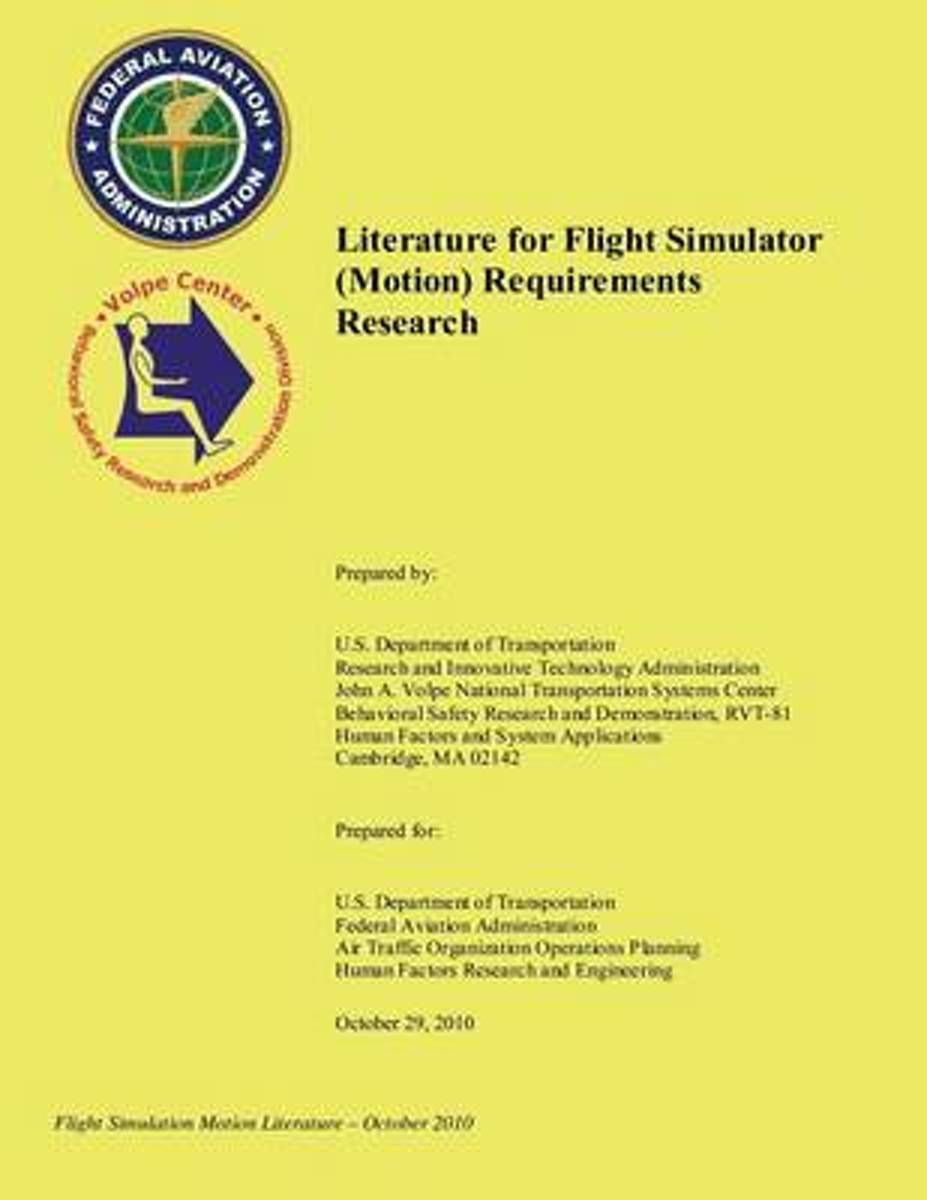 Literature for Flight Simulator (Motion) Requirements Research
