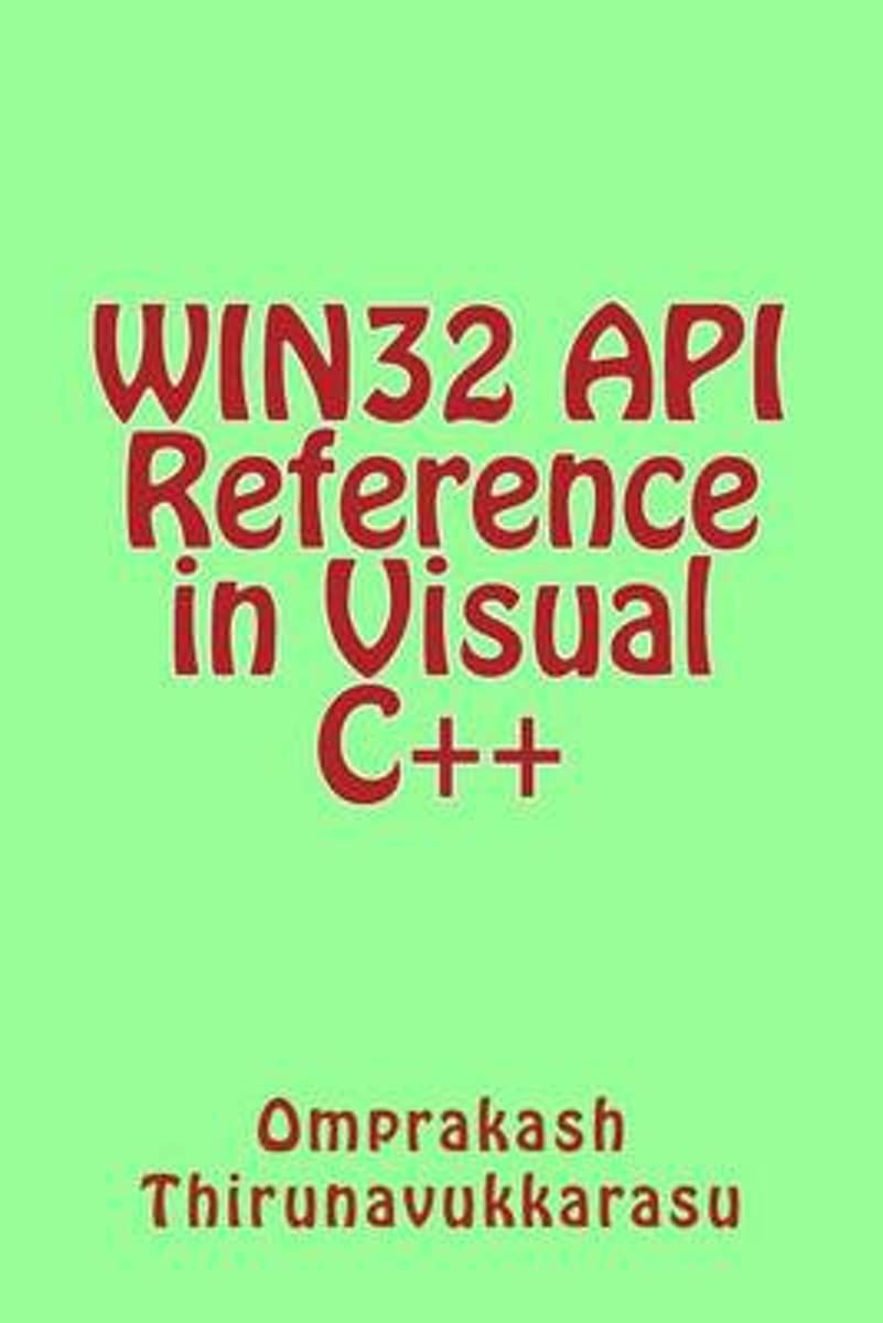 WIN32 API Reference in Visual C++