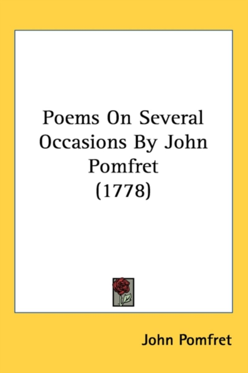 Poems On Several Occasions By John Pomfret (1778)