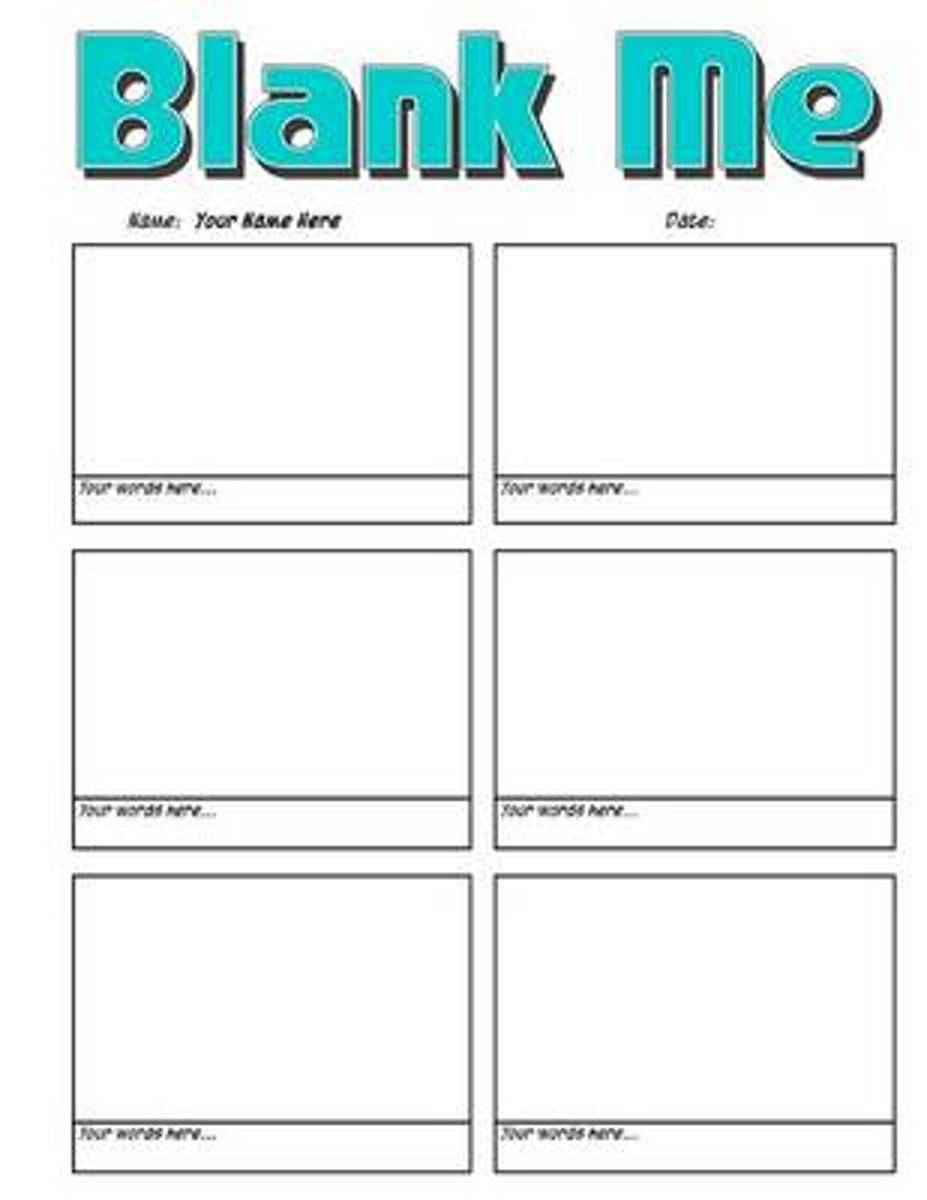 Blank Me - Basic Blank Comic Book Panelbook - 133 Pages