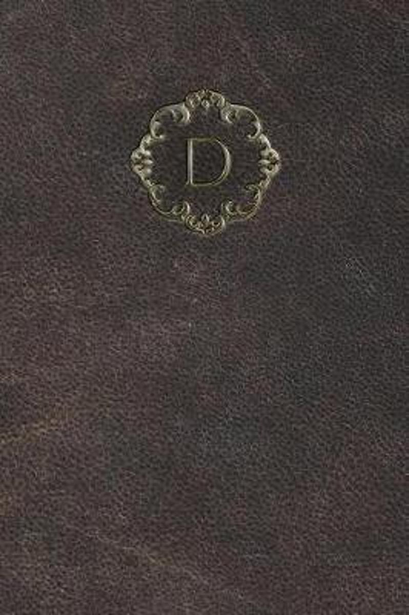 Monogram D Any Day Planner Notebook