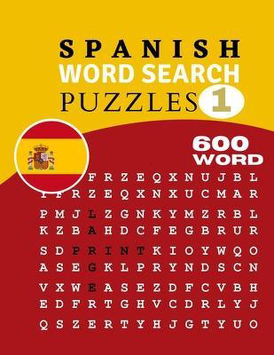 Large Print Spanish Word Search Puzzles 1