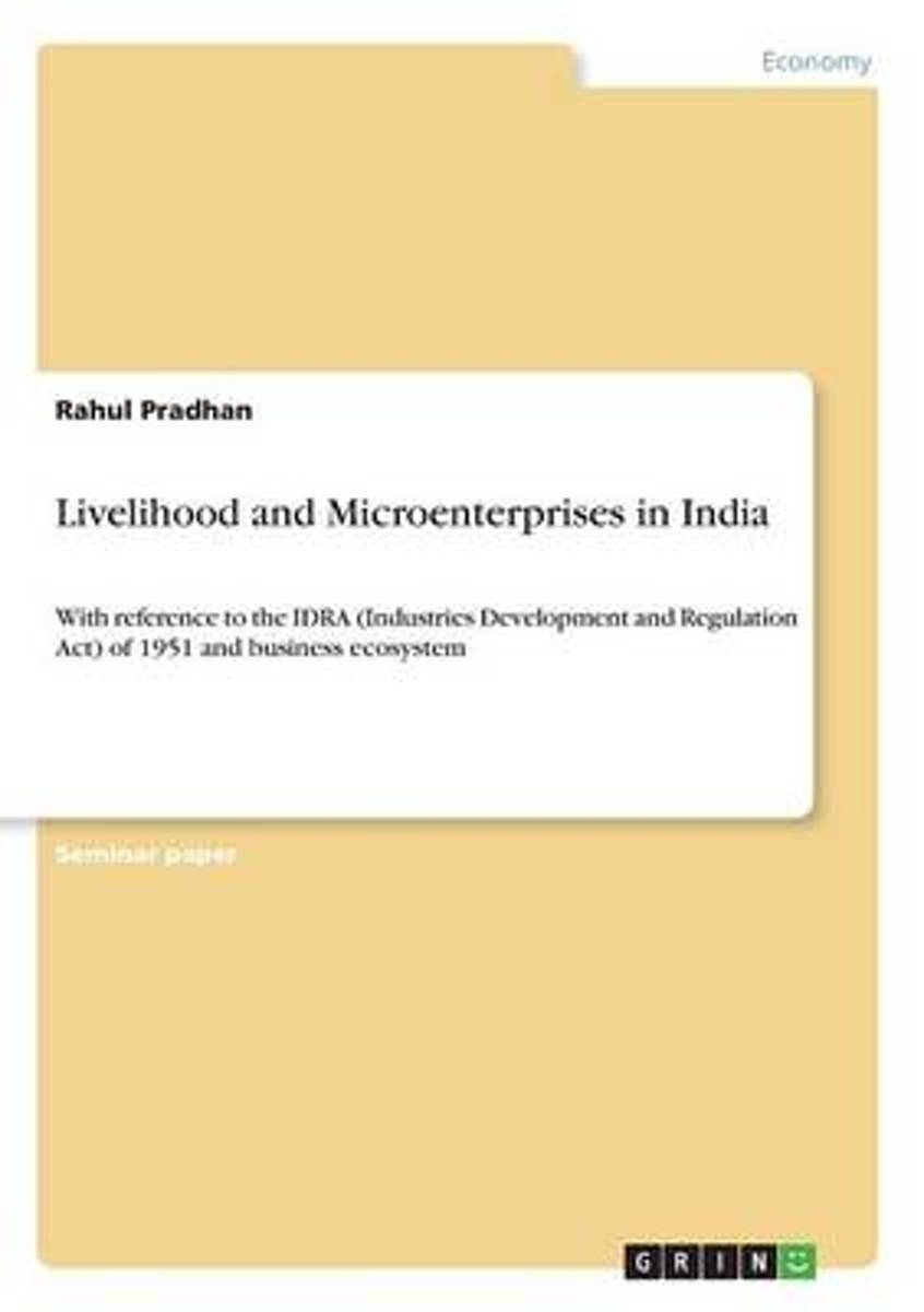 Livelihood and Microenterprises in India