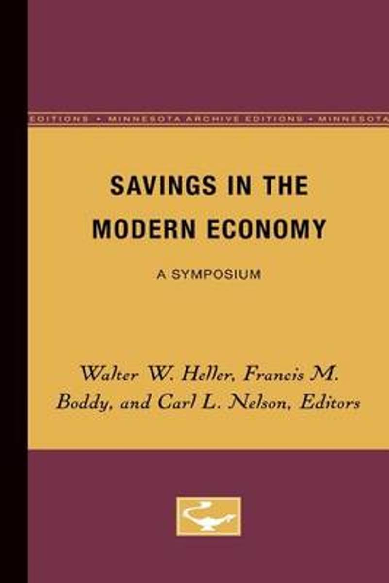 Savings in the Modern Economy