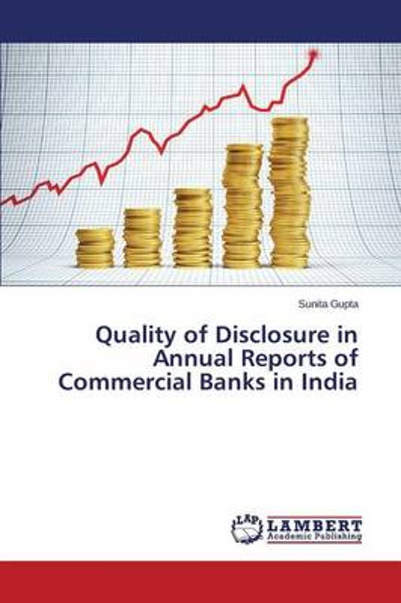 Quality of Disclosure in Annual Reports of Commercial Banks in India