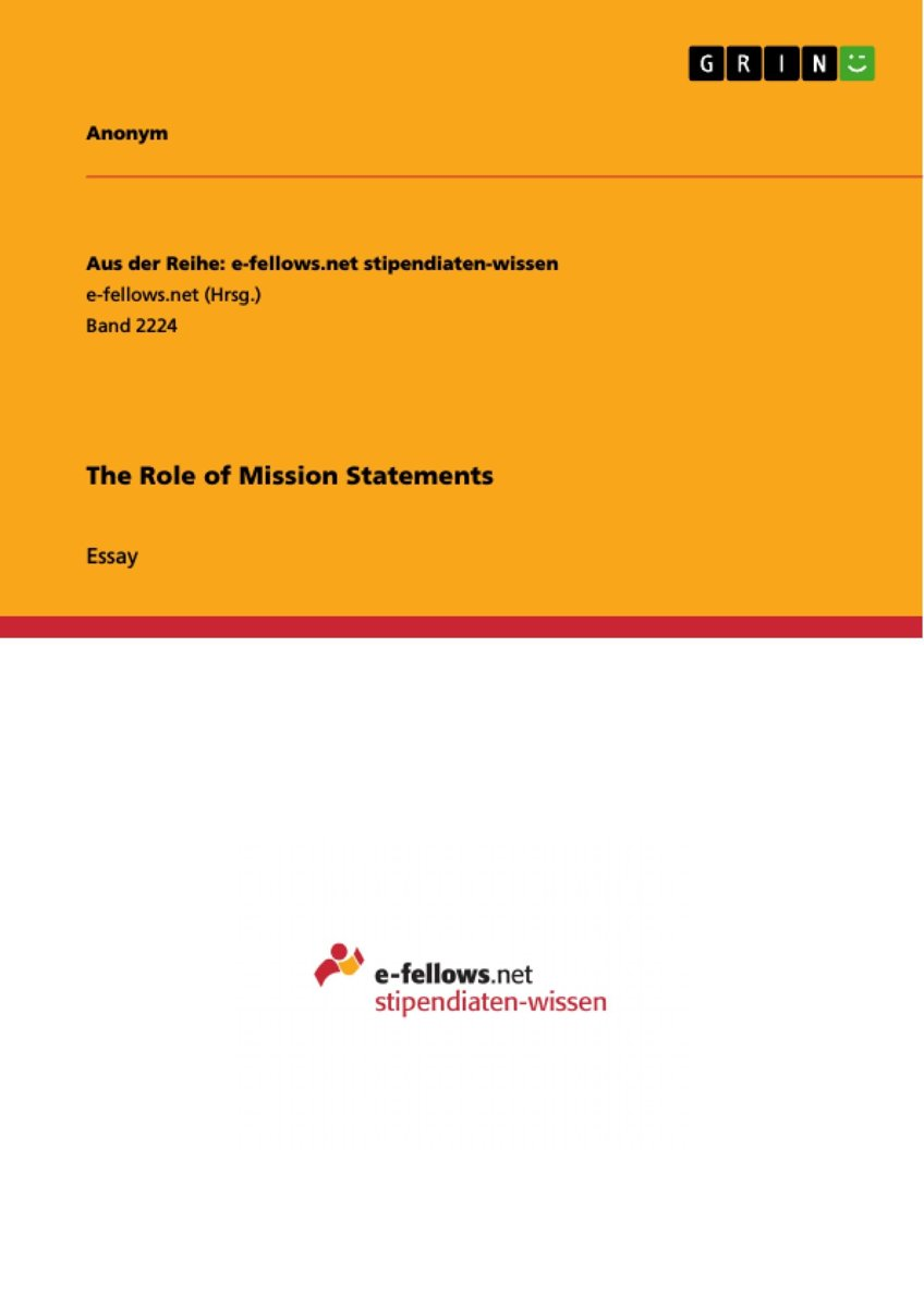 The Role of Mission Statements