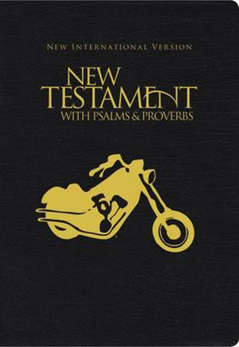 NIV, New Testament with Psalms and Proverbs, Pocket-Sized, Paperback, Black Motorcycle