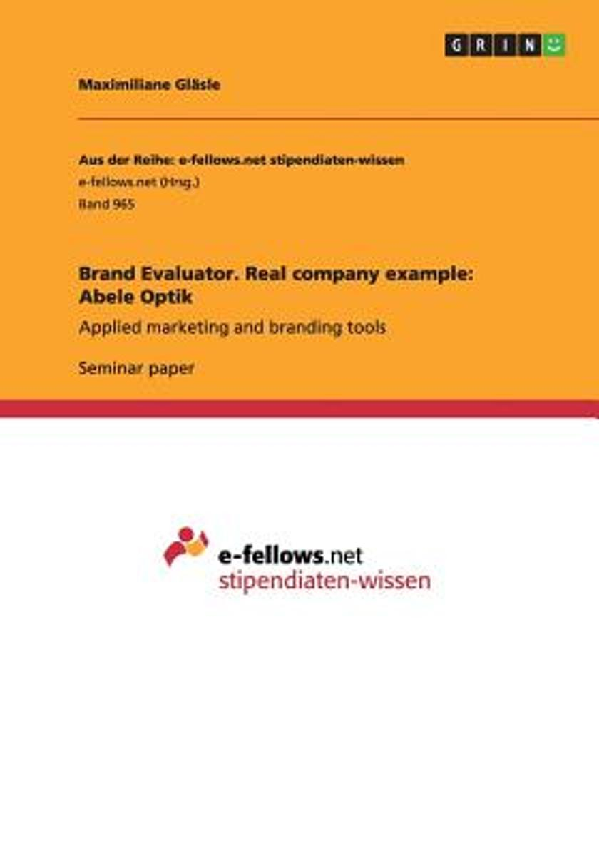 Brand Evaluator. Real Company Example