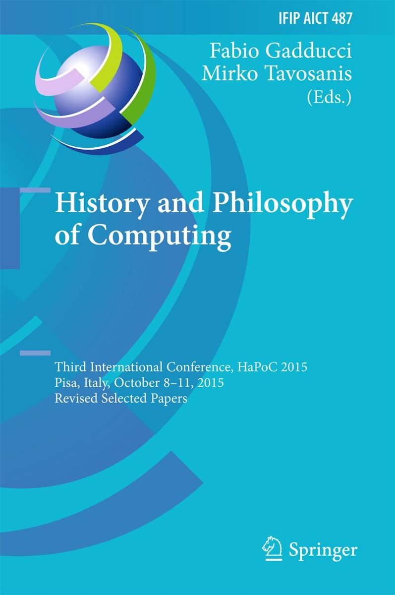 History and Philosophy of Computing