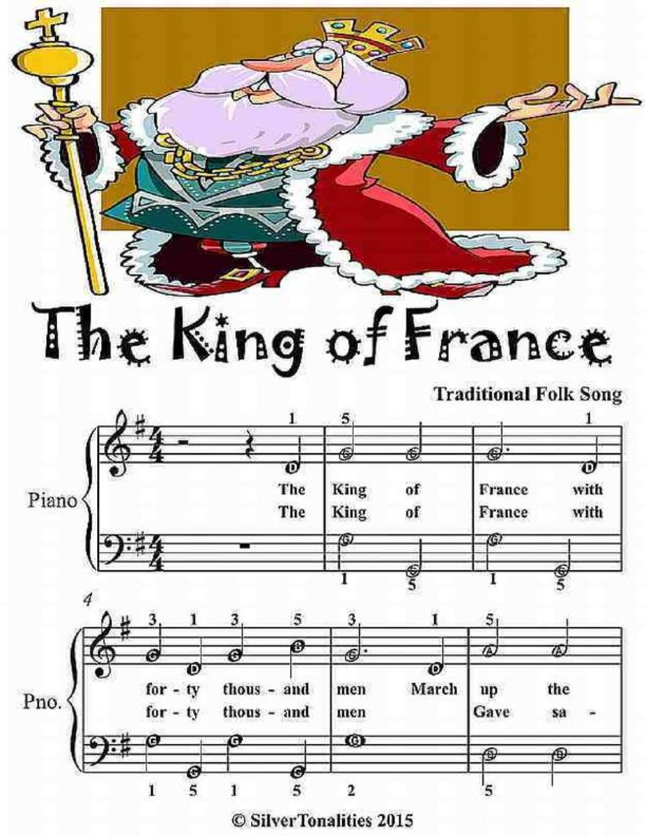 The King of France - Easiest Piano Sheet Music Junior Edition