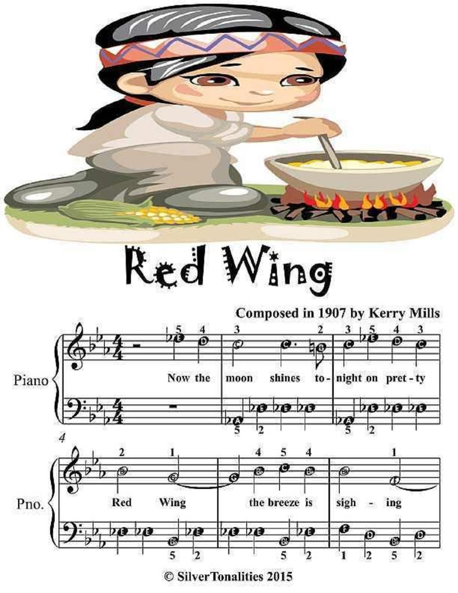 Red Wing - Easiest Piano Sheet Music Junior Edition