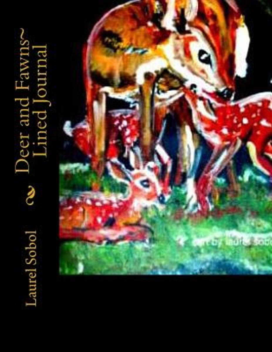 Deer and Fawns Lined Journal