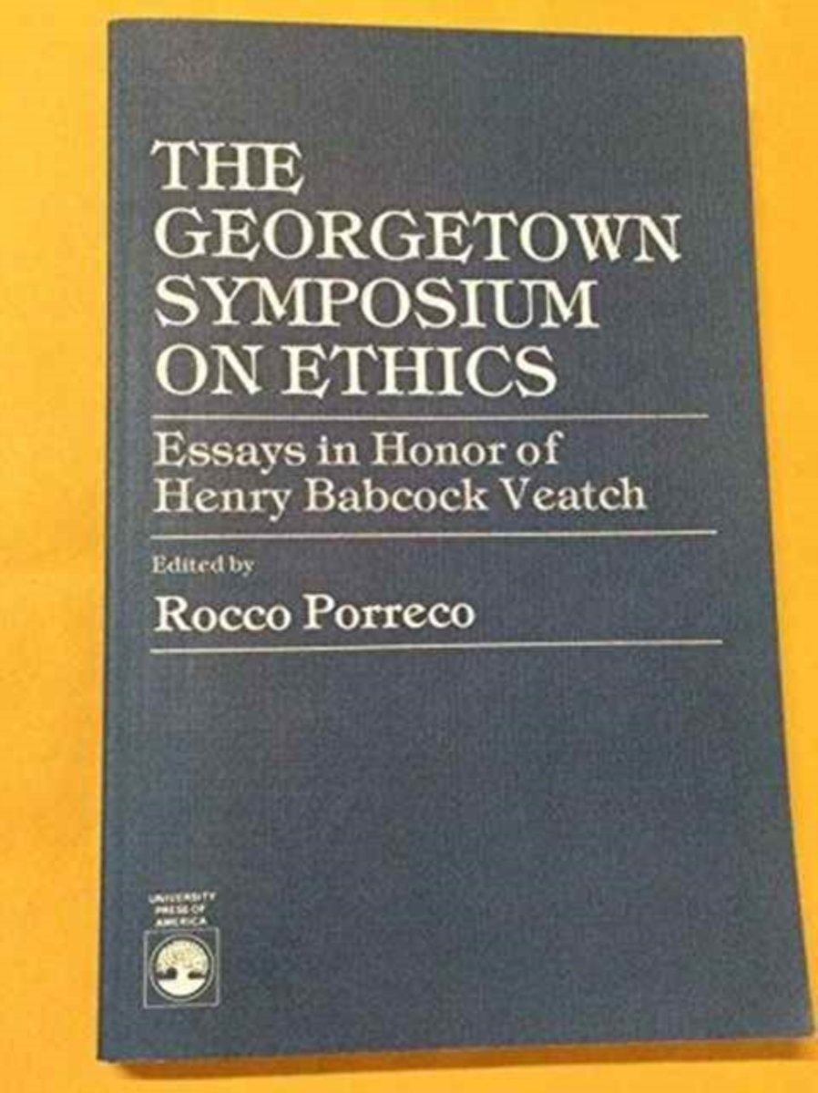 The Georgetown Symposium on Ethics