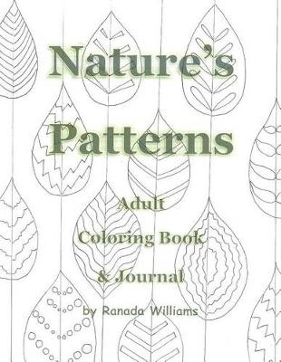 Nature's Patterns Adult Coloring Book