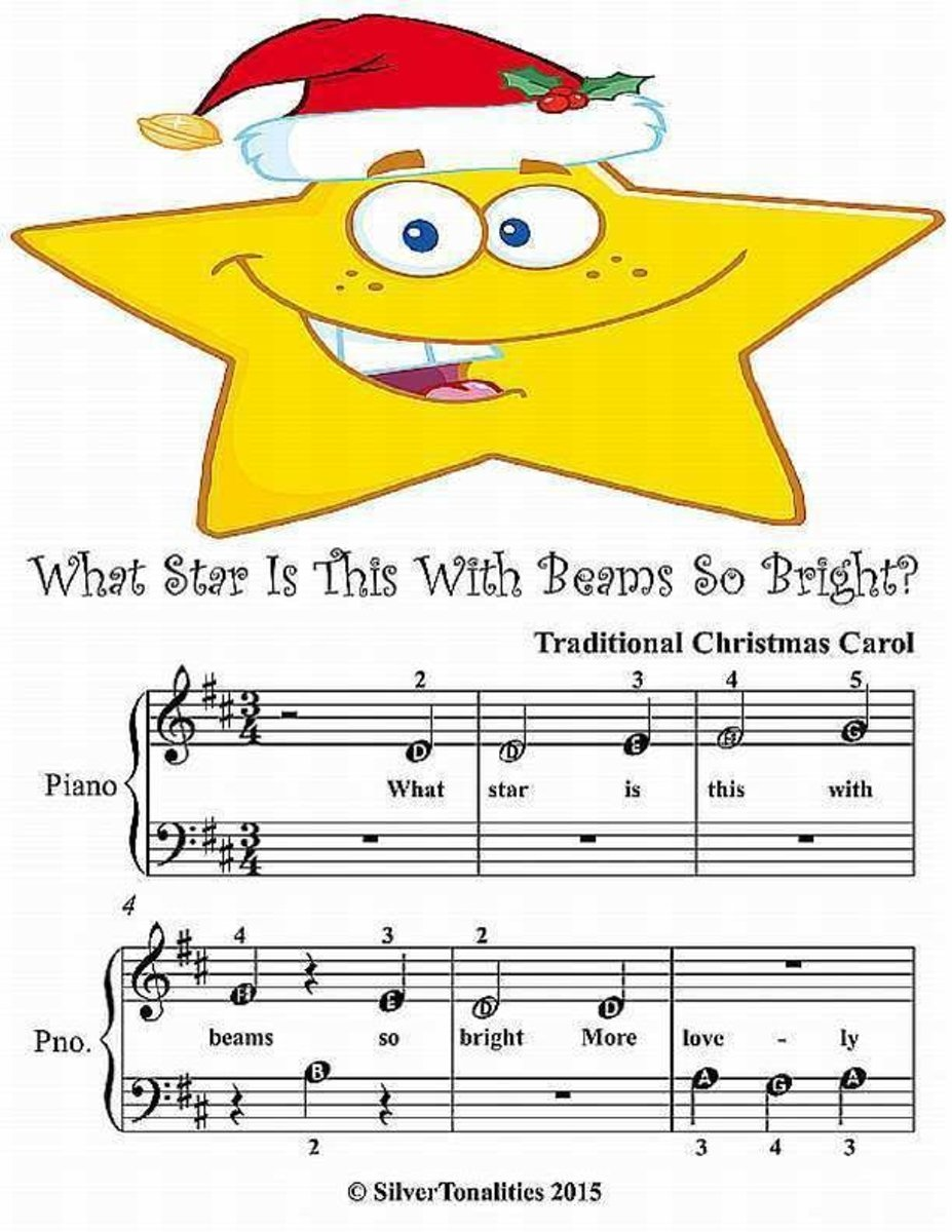 What Star Is This With Beams So Bright - Beginner Tots Piano Sheet Music