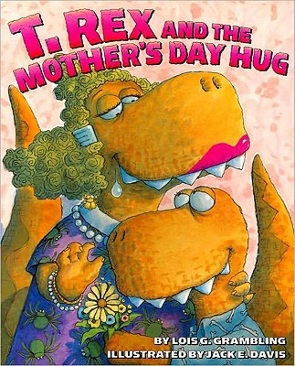 T Rex and the Mother's Day Hug