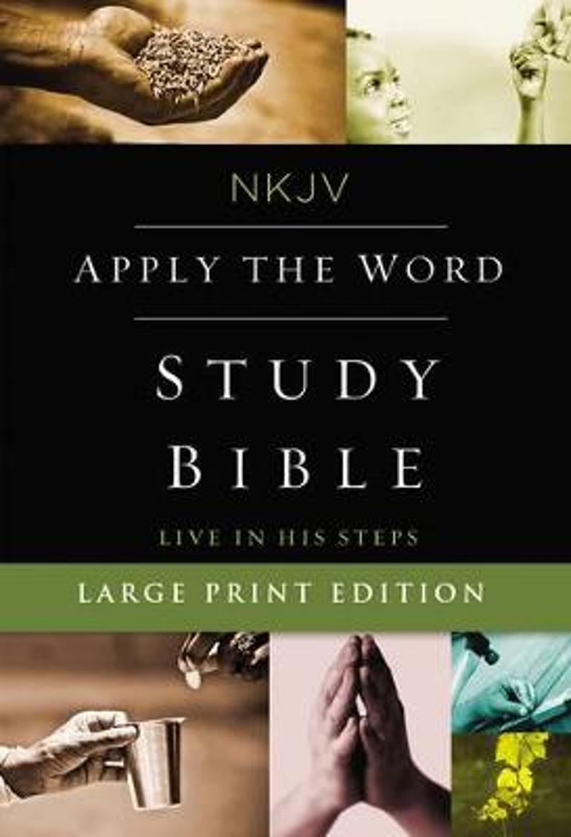NKJV, Apply the Word Study Bible, Large Print, Hardcover, Red Letter Edition