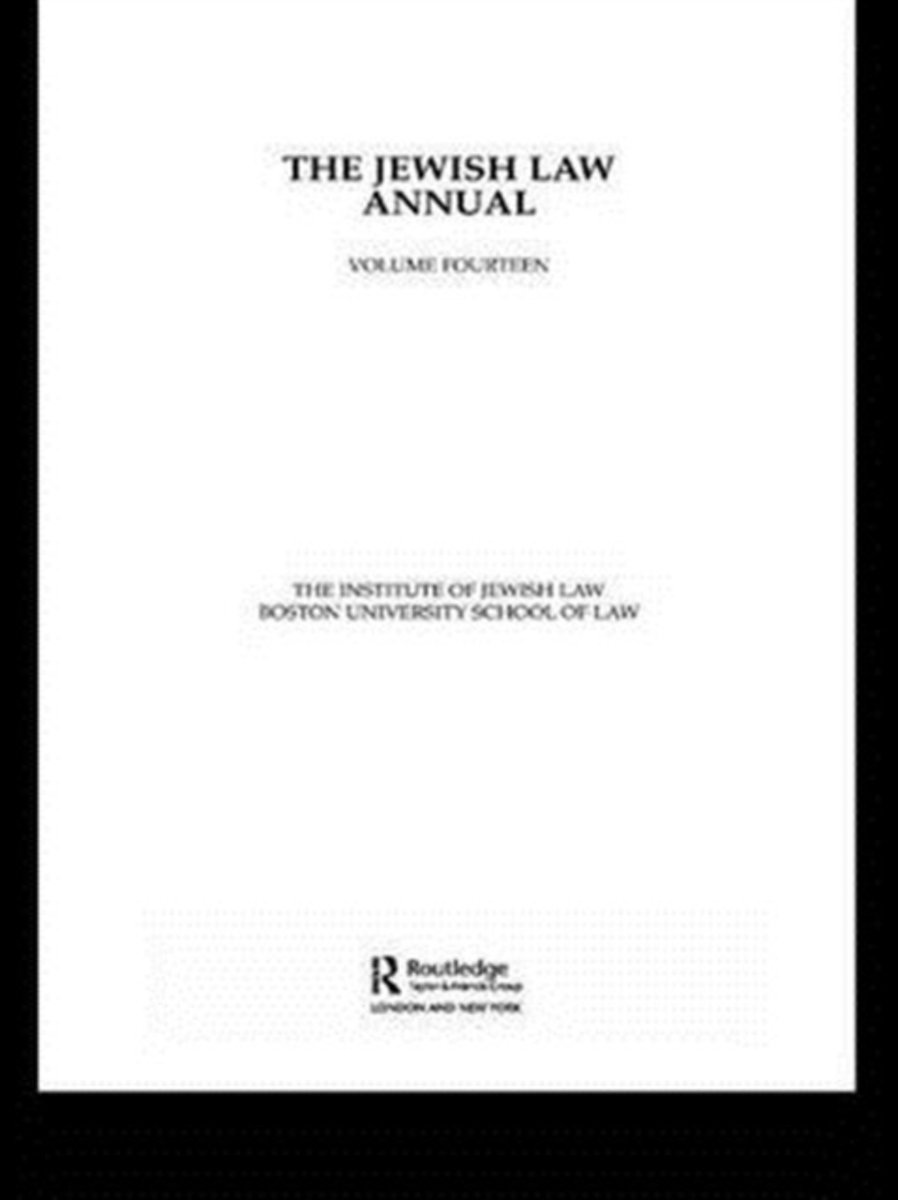 The Jewish Law Annual Volume 14