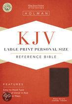 Large Print Personal Size Reference Bible-KJV-Magnetic Closure