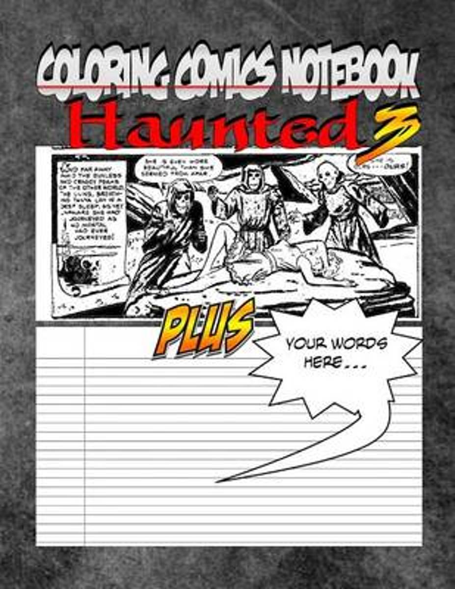 Coloring Comics Notebook - Haunted 3 image