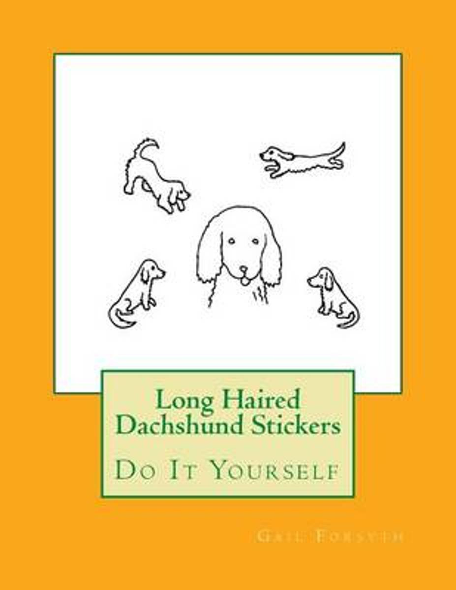 Long Haired Dachshund Stickers