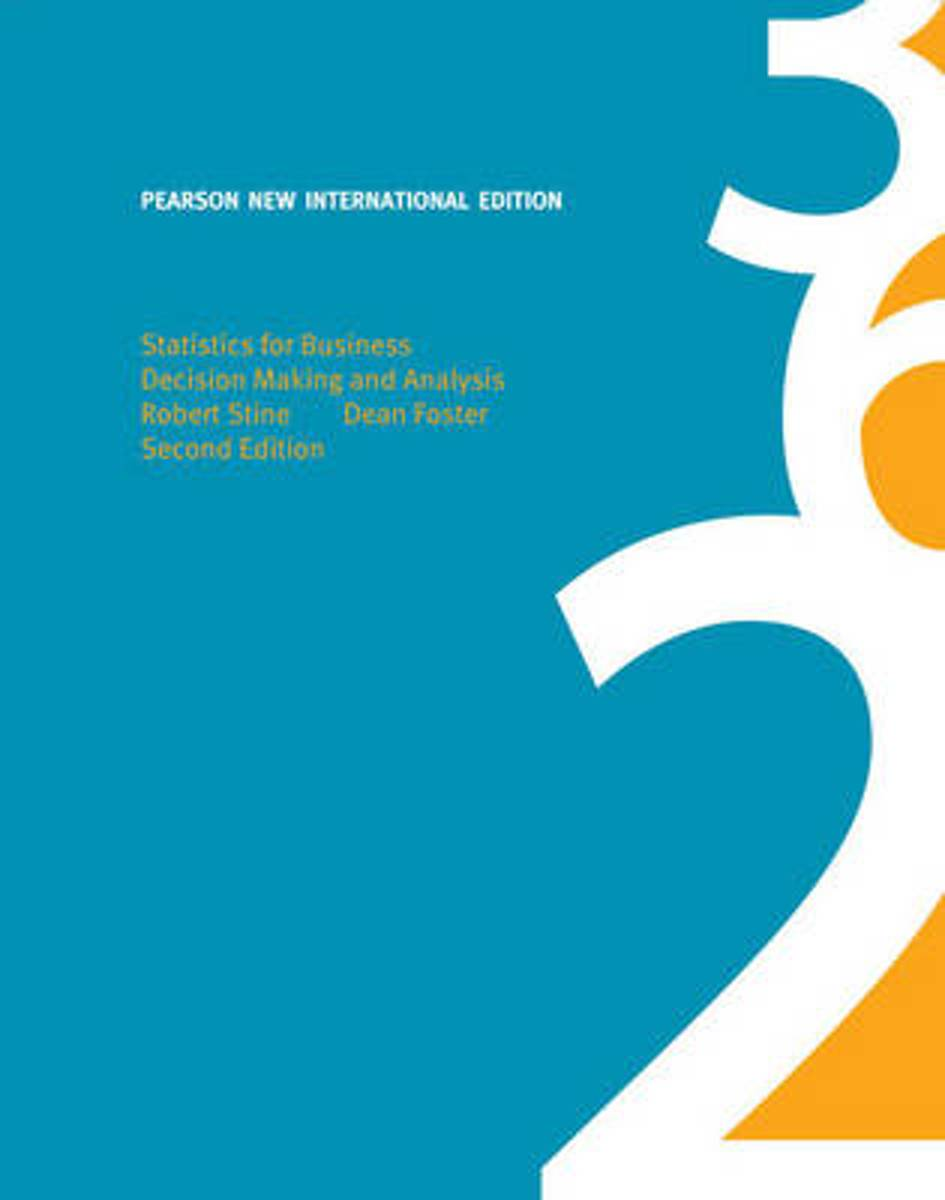 Statistics for Business: Pearson  International Edition