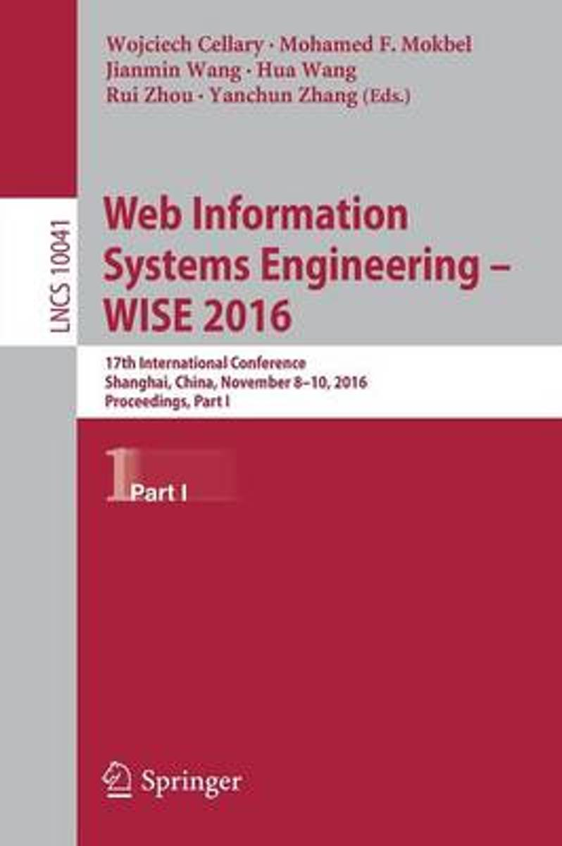 Web Information Systems Engineering - WISE 2016