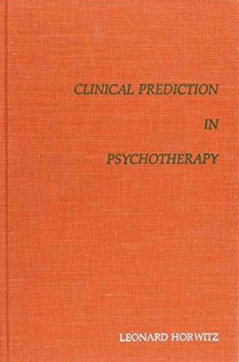 Clinical Prediction in Psychotherapy