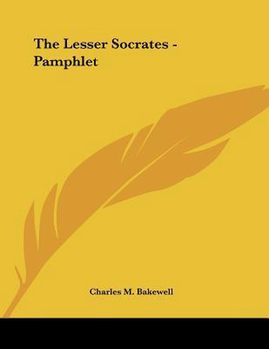 The Lesser Socrates - Pamphlet