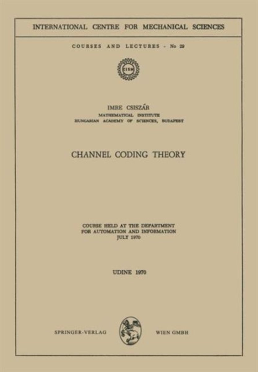 Channel Coding Theory