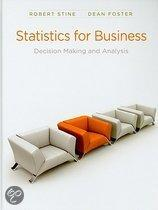 Statistics for Business: Decision Making and Analysis [With CDROM and Access Code]