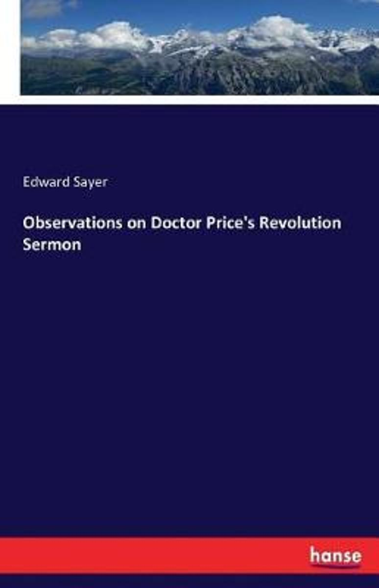 Observations on Doctor Price's Revolution Sermon
