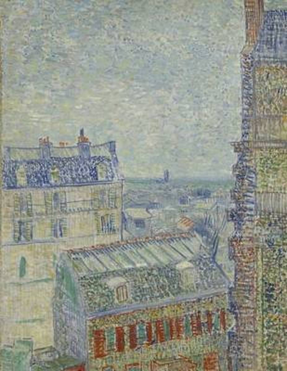 View from Theo's Apartment, Vincent Van Gogh. Ruled Journal