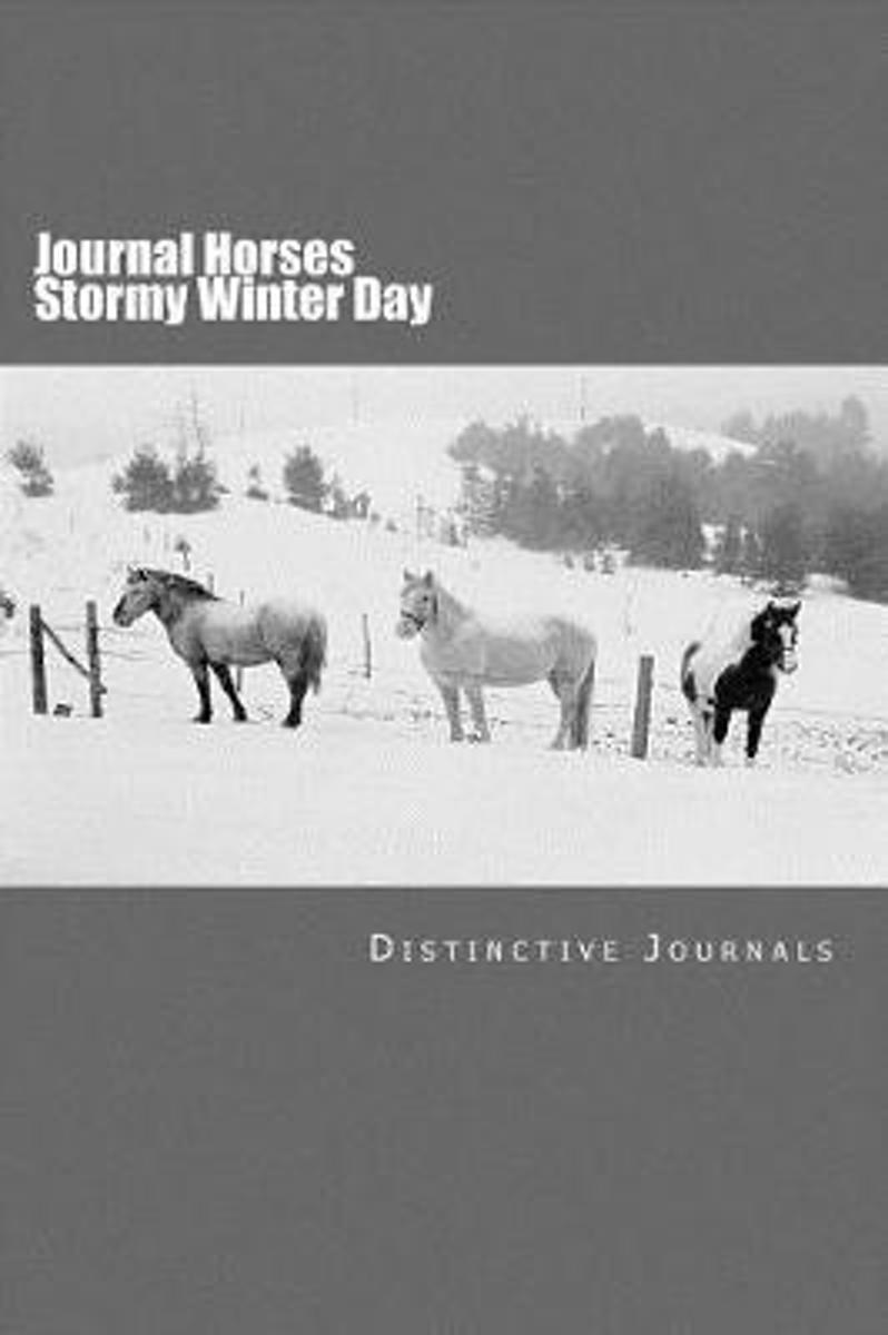 Journal Horses Stormy Winter Day