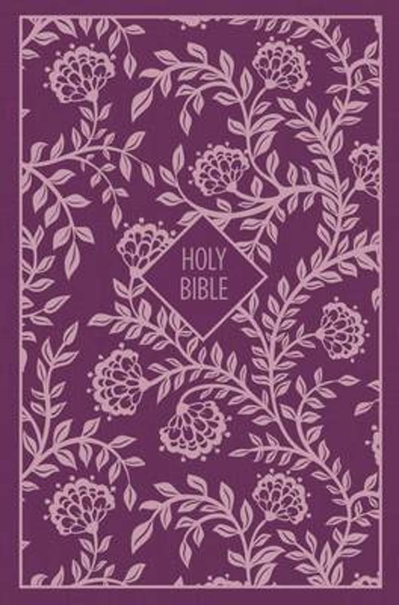 KJV, Thinline Bible, Compact, Cloth over Board, Purple, Red Letter Edition, Comfort Print