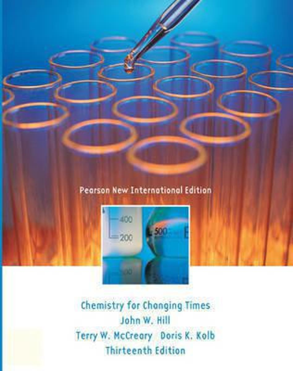 Chemistry For Changing Times: Pearson  International Edition
