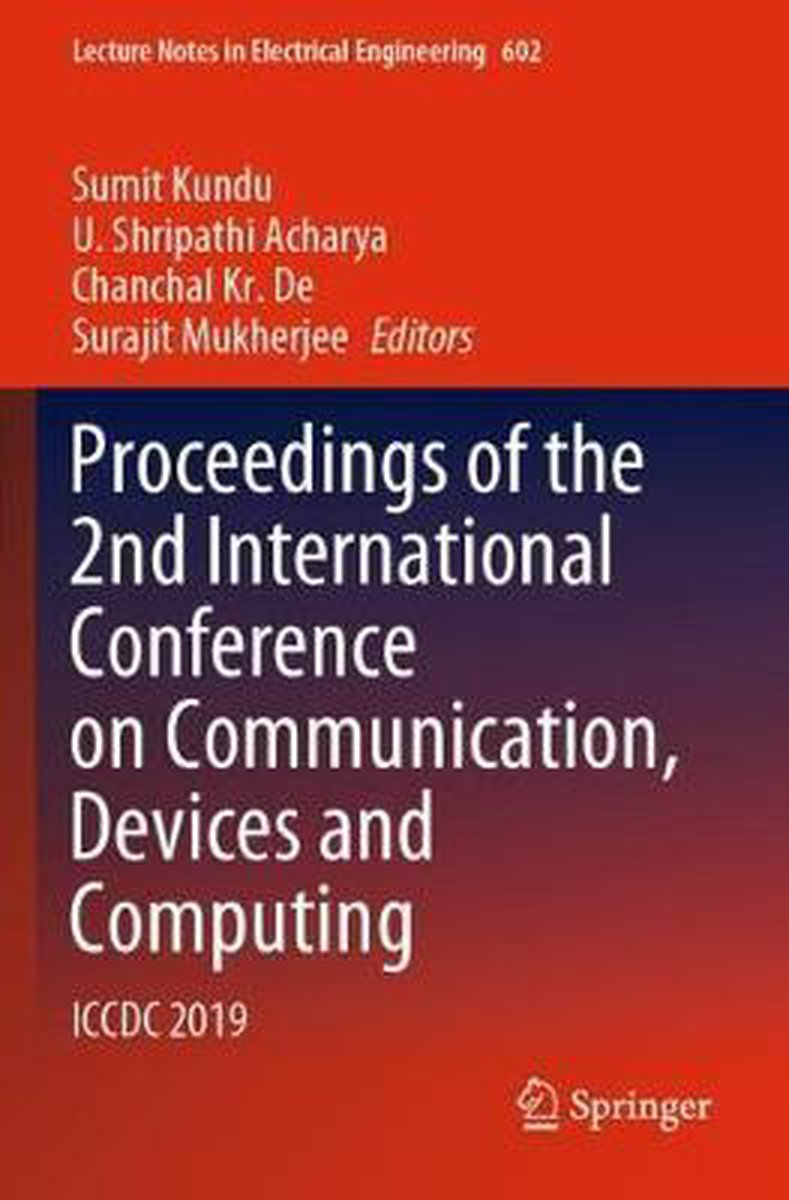 Proceedings of the 2nd International Conference on Communication, Devices and Computing