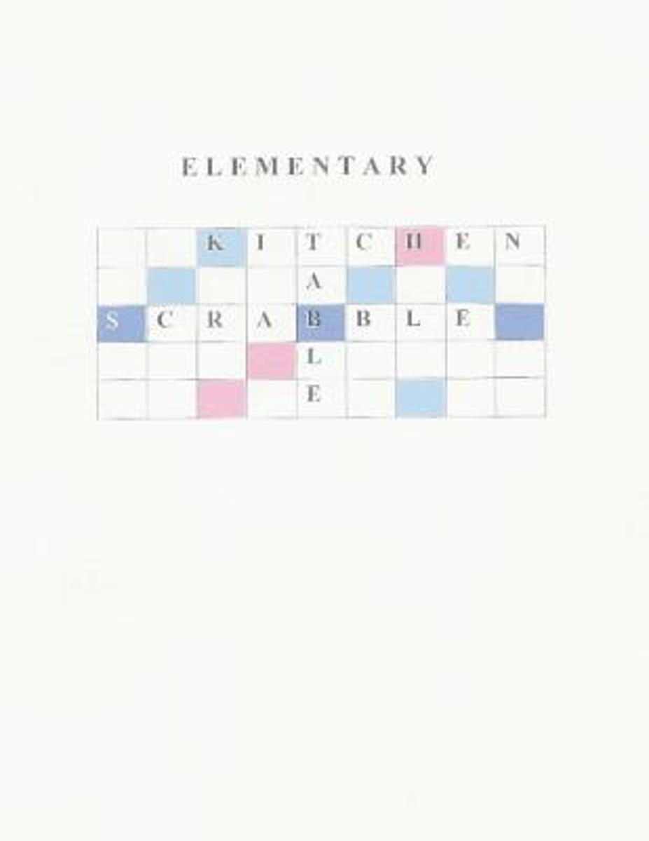 Elementary Kitchen Table Scrabble
