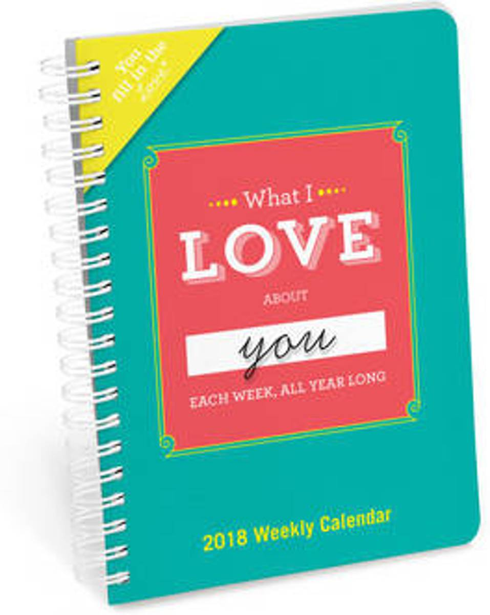 What I Love About You All Year Long Fill in the Love Weekly Calendar