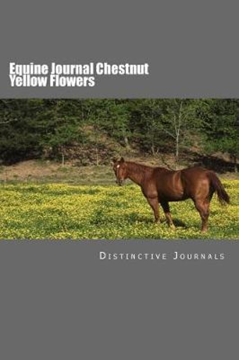 Equine Journal Chestnut Yellow Flowers