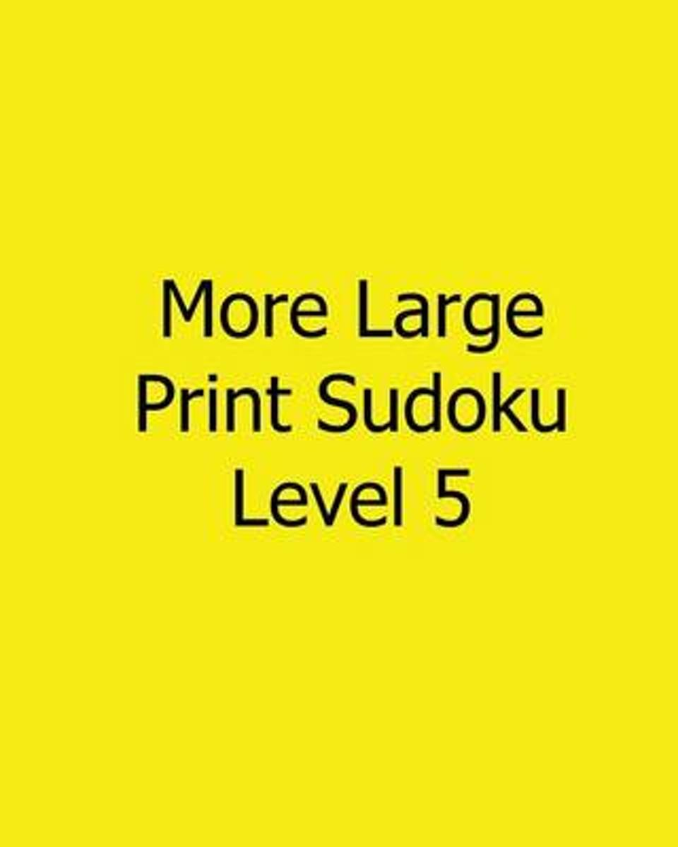 More Large Print Sudoku Level 5