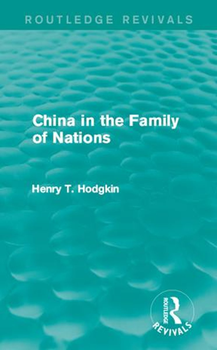 China in the Family of Nations (Routledge Revivals)