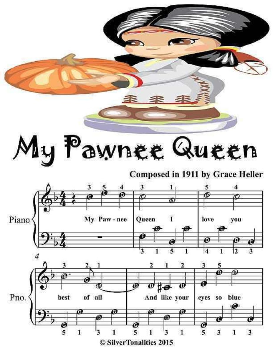 My Pawnee Queen - Easiest Piano Sheet Music Junior Edition